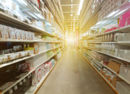 Abstract Blur Background of supermarket Stock Photo