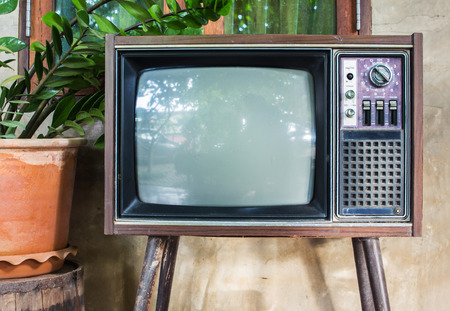 Old TV,vintage Classic Retro Style,old television.