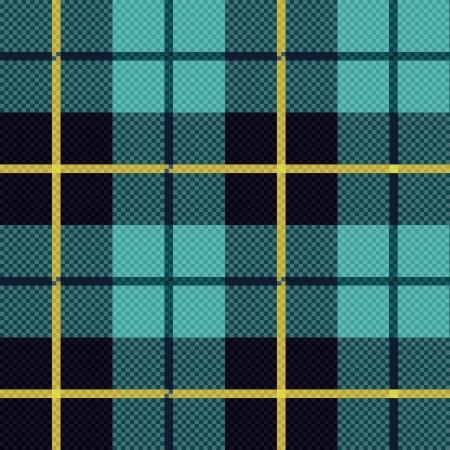 Seamless checkered shades of blue and yellow vector pattern as a tartan plaid Vector