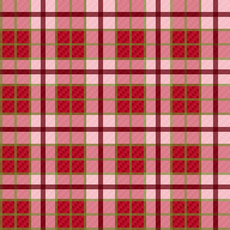 Seamless checkered shades of red and pink vector pattern with transparency Vector