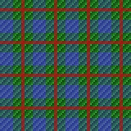 Tartan plaid fabric red checkered texture, seamless pattern Vector