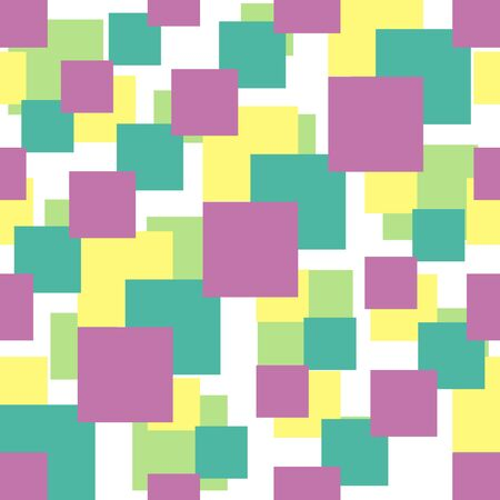 Seamless vector pattern with colorful squares of different sizes Vector
