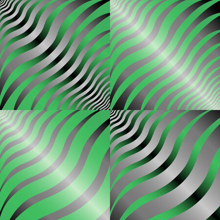 tints: Four simple abstract hand drawing vector patterns in green and gray tints Illustration