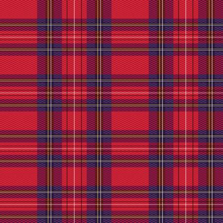 scot: Rectangular seamless red vector pattern as a tartan plaid