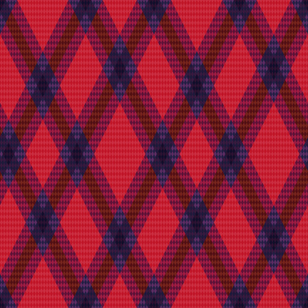 rhombic: Rhombic seamless green and red vector pattern as a tartan plaid