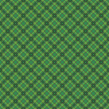 intermittent: Mesh seamless vector pattern with single and double dashed lines. Repeat background with geometrical array over green background