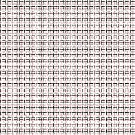 intermittent: Mesh seamless vector pattern with single and double dashed lines. Repeat background with geometrical array in black and red