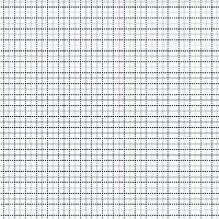 quadratic: Mesh seamless pattern vettoriale con linee tratteggiate singole e doppie. Sfondo Ripetere con matrice geometrica in blu e nero Vettoriali