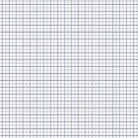 intermittent: Mesh seamless vector pattern with single and double dashed lines. Repeat background with geometrical array in blue and black Illustration