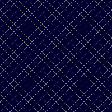 intermittent: Dark blue seamless mesh pattern with diagonal dashed lines Illustration