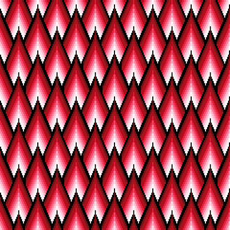 jointless: Seamless pattern of repetitive elements with different brightness of red color Illustration