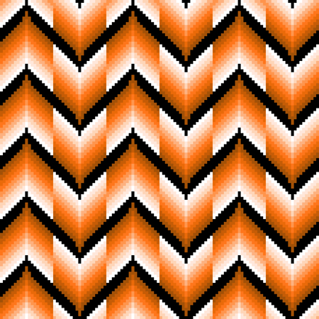 repetitive: Seamless pattern of repetitive zigzag elements with different brightness of orange color