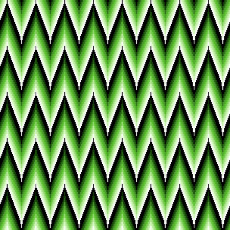 repetitive: Seamless pattern of repetitive zigzag elements with different brightness of green color Illustration