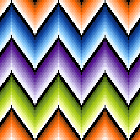 repetitive: Seamless  pattern of repetitive zigzag elements with different brightness colors Illustration
