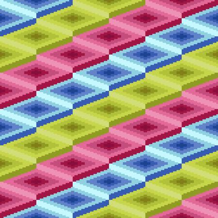 r�p�titif: Seamless vector pattern d'�l�ments de losange r�p�titives avec des couleurs diff�rentes