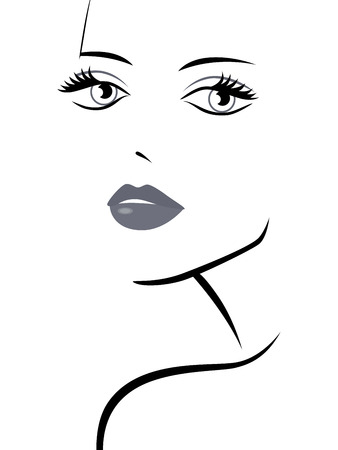 feminity: Beautiful fashionable young girl abstract portrait