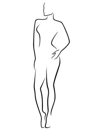 Résumé corps mince vecteur laconique aperçu humaine