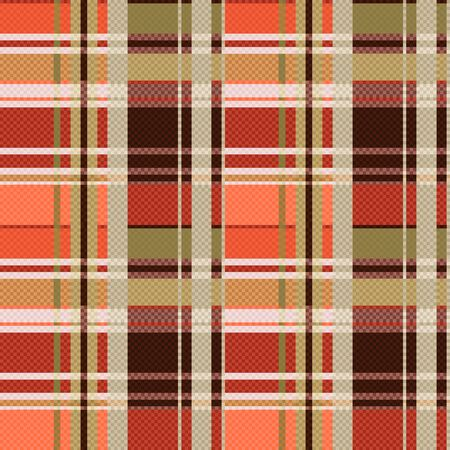 tartan plaid: Rectangular seamless vector pattern as a tartan plaid mainly in brown colors Illustration