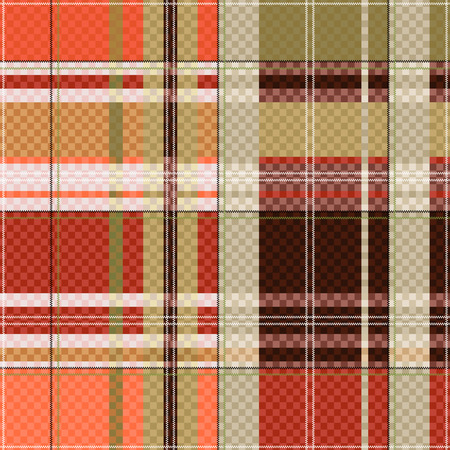 scot: Rectangular seamless vector pattern as a tartan plaid mainly in light brown colors