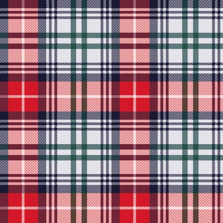 tartan plaid: Rectangular seamless vector pattern as a tartan plaid mainly in red and light grey colors Illustration