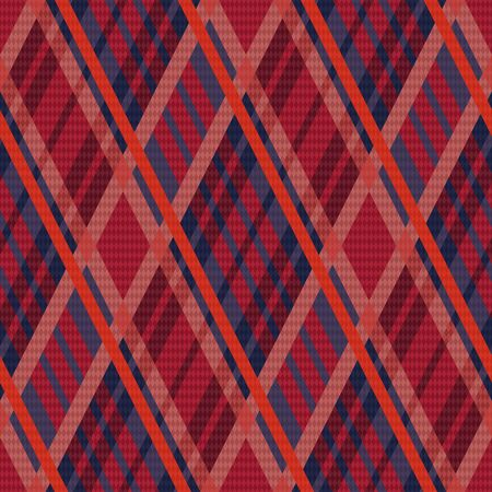 tartan plaid: Rhombus seamless vector pattern as a tartan plaid mainly in red and blue colors Illustration