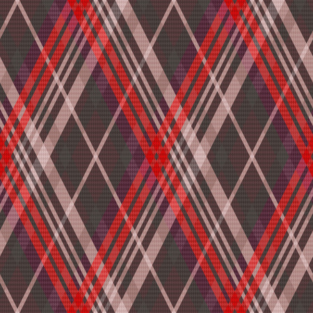 muted: Rhombic seamless vector pattern as a tartan plaid mainly in muted red and other colors Illustration