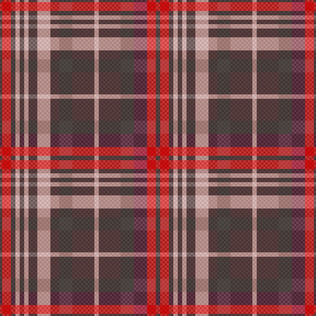 muted: Rectangular seamless vector pattern as a tartan plaid mainly in muted red and other colors