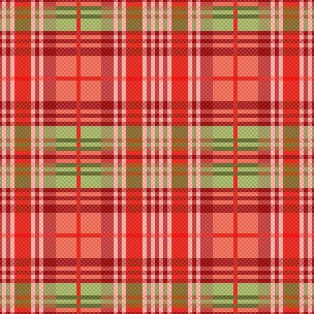 tartan plaid: Rectangular seamless vector pattern as a tartan plaid mainly in red hues