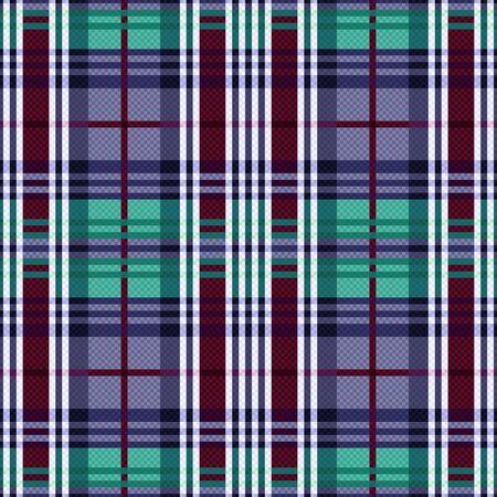 tartan plaid: Rectangular seamless vector pattern as a tartan plaid mainly in cool hues