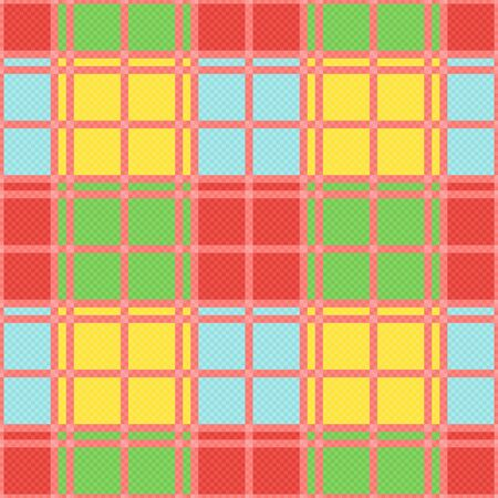 modish: Rectangular seamless vector pattern as a tartan plaid mainly in various motley trendy colors