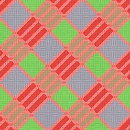 tartan plaid: Diagonal seamless vector pattern as a tartan plaid mainly in various trendy colors Illustration