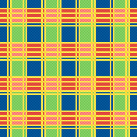 motley: Rectangular seamless vector pattern as a tartan plaid mainly in motley trendy colors Illustration