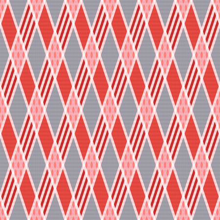 hues: Rhombic seamless vector pattern as a tartan plaid mainly in pink an gray trendy hues