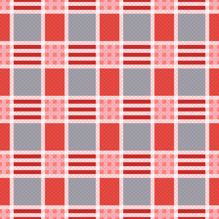 hues: Rectangular seamless vector pattern as a tartan plaid mainly in pink an gray trendy hues