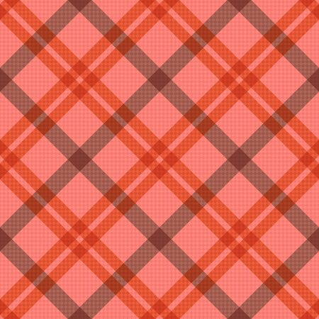 tartan plaid: Seamless diagonal vector pattern as a tartan plaid mainly in pink, red and brown colors