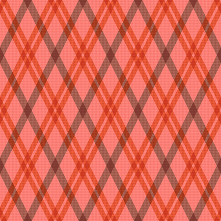 rhombic: Seamless rhombic vector pattern as a tartan plaid mainly in pink, red and brown colors