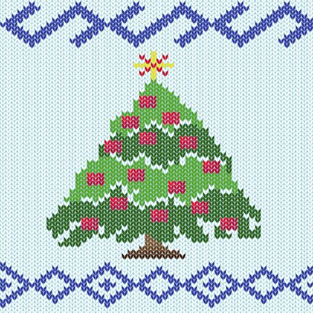 the details: Christmas tree with ornate details makes in stylized knitting employment