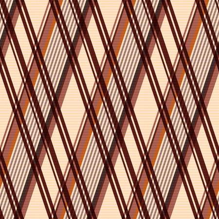 scot: Detailed Rhombus seamless pattern as a tartan plaid mainly in beige and brown colors