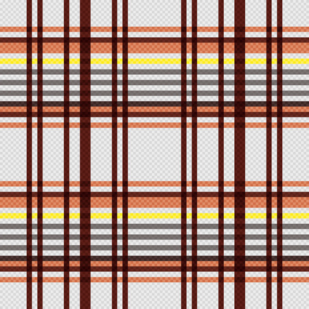 scot: Detailed Rectangular seamless pattern as a tartan plaid mainly in beige, brown and yellow colors