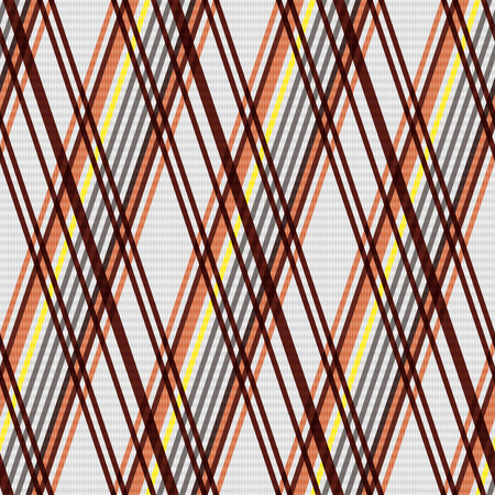 scot: Detailed Rhombus seamless pattern as a tartan plaid mainly in beige, brown and yellow colors Illustration
