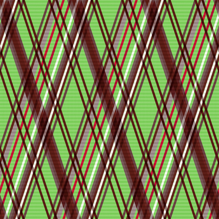 scot: Detailed Rhombus seamless pattern as a tartan plaid mainly in green and brown colors