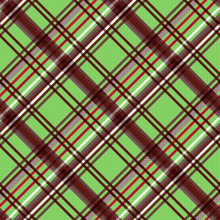 tartan plaid: Detailed Diagonal seamless pattern as a tartan plaid mainly in green and brown colors