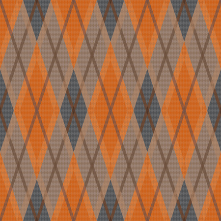 rhombic: Rhombic seamless vector pattern as a tartan plaid in dim warm color hues Illustration