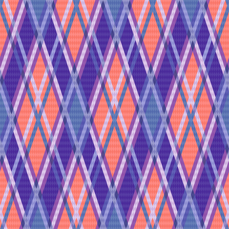 rhombic: Seamless rhombic colorful pattern mainly in blue, coral and violet colors