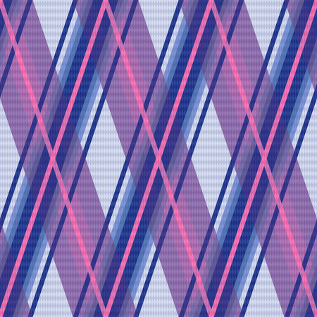 scot: Seamless rhombic vector colorful pattern mainly in violet, blue and pink colors Illustration