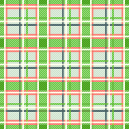 scot: Seamless checkered vector colorful pattern mainly in green, pink and other light warm colors