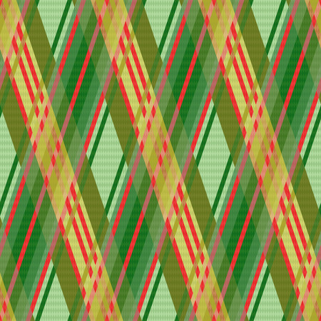 rhombic: Seamless rhombic vector colorful pattern mainly in green and red