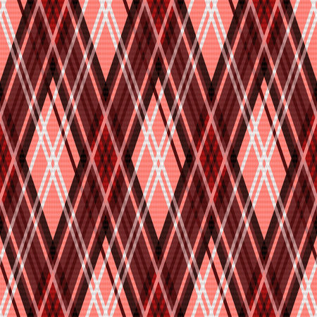 rhombic: Seamless rhombic vector colorful pattern mainly red and white Illustration