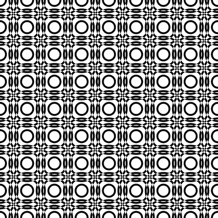 mutually: Seamless vector pattern with black and white overlapping circles Illustration