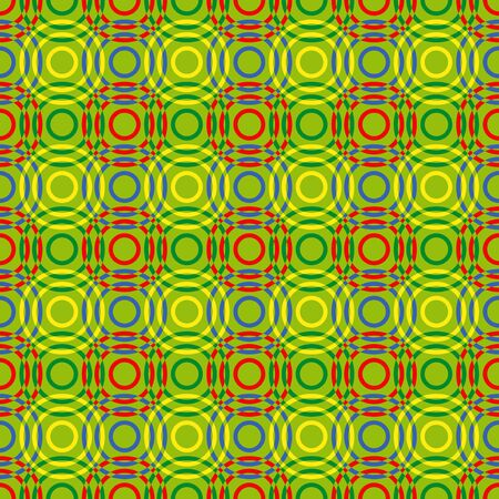 mutually: Seamless vector pattern with multicolour overlapping circles Illustration